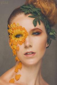 Model: Annasofie Yde // MUA: art by Yde